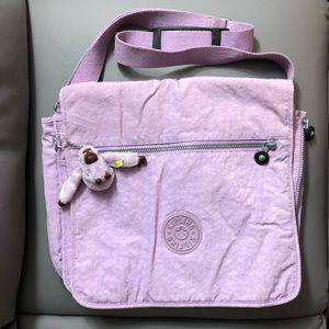 Kipling lilac messenger bag